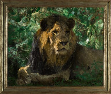 View 2. Thumbnail of Lot 148. Resting Lion.