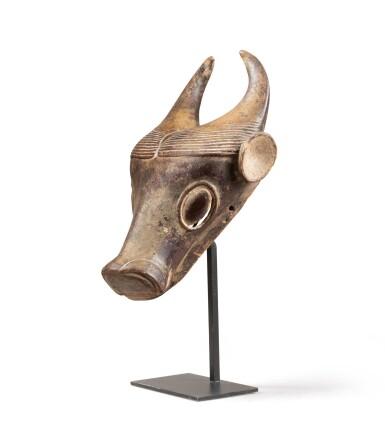 View 3. Thumbnail of Lot 227. Masque, Bamoun, Cameroun   Bamoun mask, Cameroon.