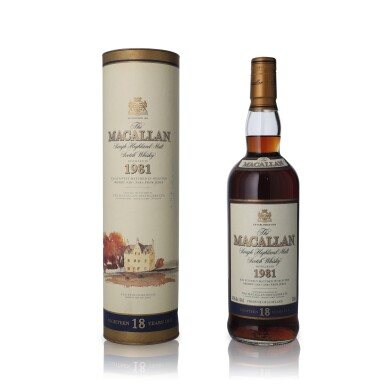 View 1. Thumbnail of Lot 20.  The Macallan 18 Year Old 43.0 abv 1981 (1 BT75).