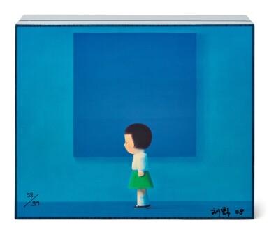 View 1. Thumbnail of Lot 1. Liu Ye 劉野 X Elie Bleu l Blue Sycamore Humidor 藍色懸鈴木雪茄盒.
