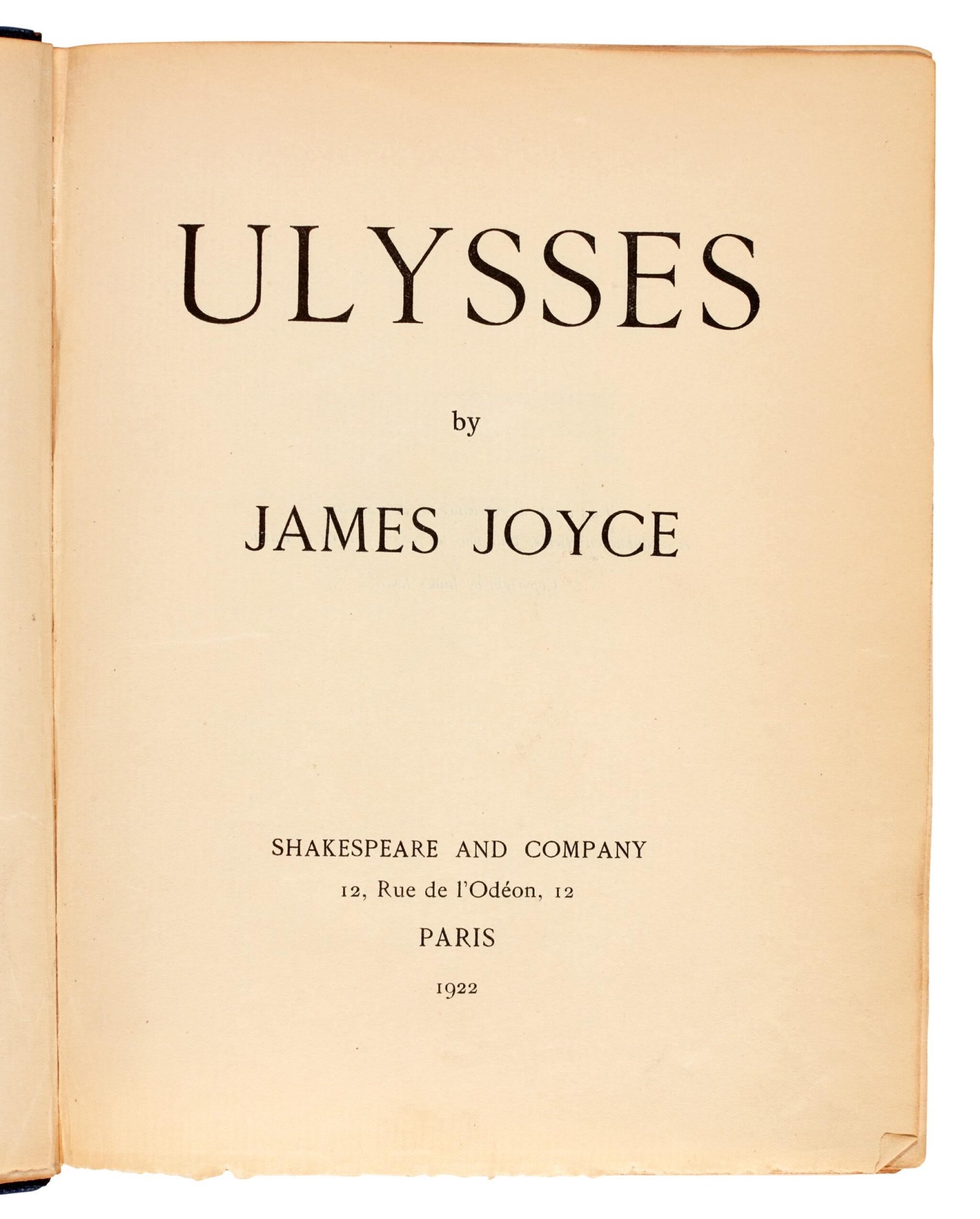 View full screen - View 1 of Lot 88. JOYCE | Ulysses, no.762/750 copies, 1922.