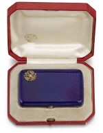 An Imperial Presentation jewelled, gold and guilloché enamel cigarette case, workmaster Carl Blank for Hahn, St Petersburg, circa 1896