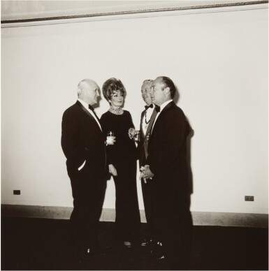 View 1. Thumbnail of Lot 11. DIANE ARBUS | 'FOUR PEOPLE AT A GALLERY OPENING, N.Y.C.'.