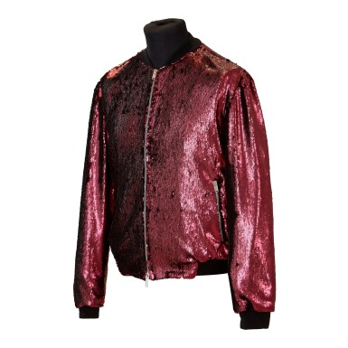 View 3. Thumbnail of Lot 9. Mick Jagger's 'No Filter' European Tour Red Sequin Jacket, 2017.