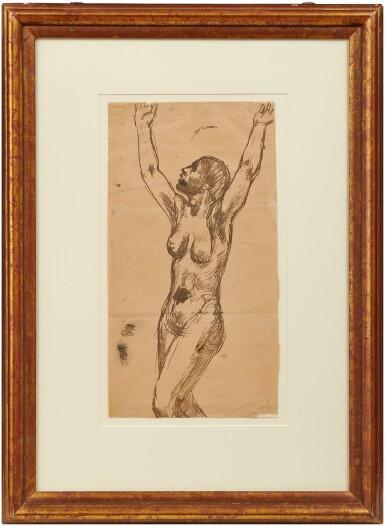 View 2. Thumbnail of Lot 33. Femme nue invoquant le ciel.