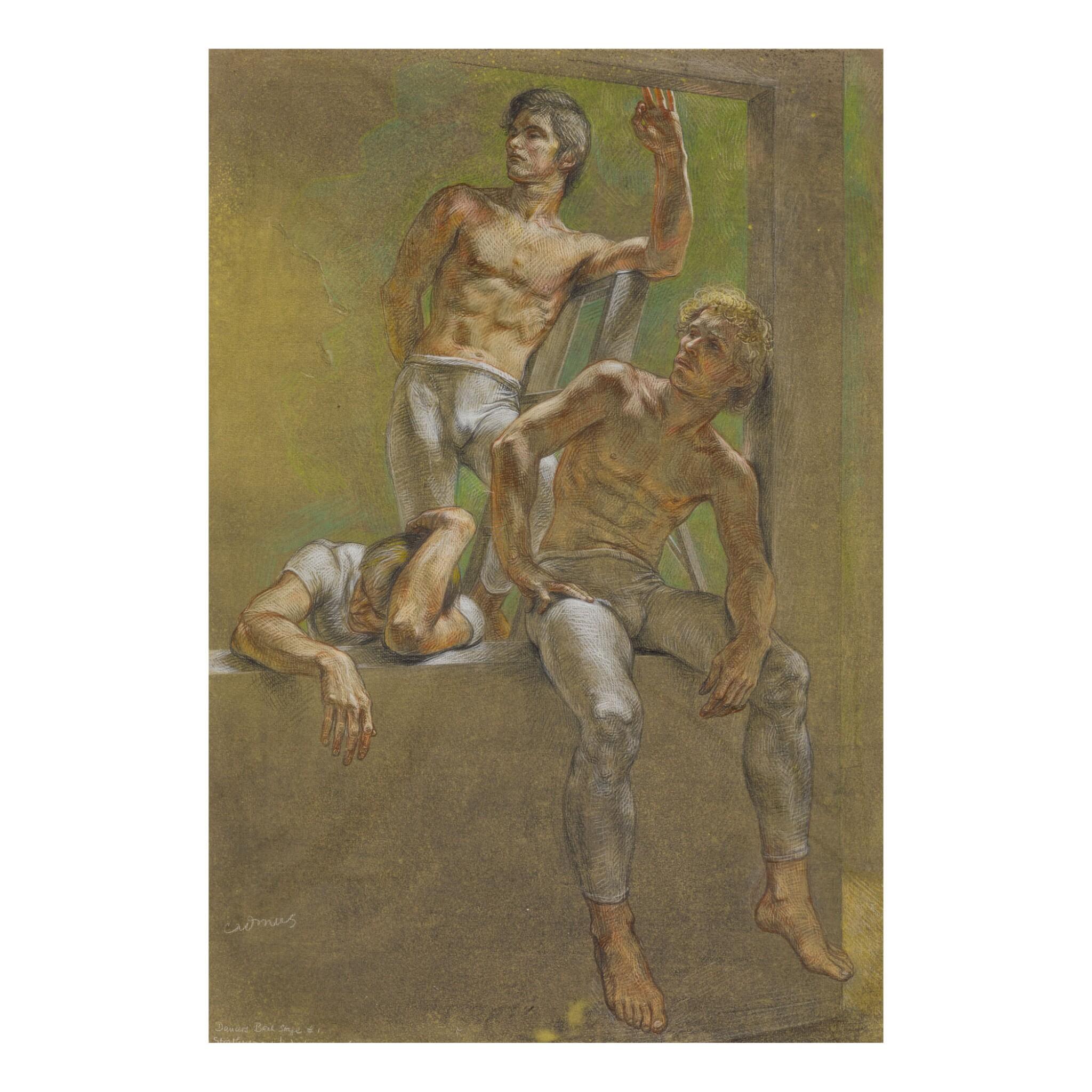 PAUL CADMUS | DANCERS BACK STAGE #1