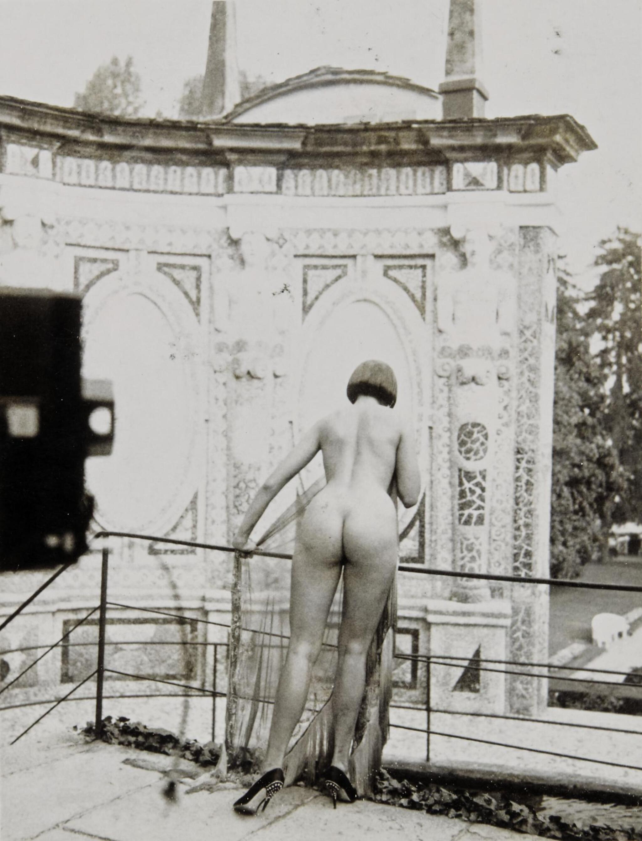 View full screen - View 1 of Lot 117. HELMUT NEWTON | 'VIEW AT THE VILLA D'ESTE', LAKE COMO, C.1980.