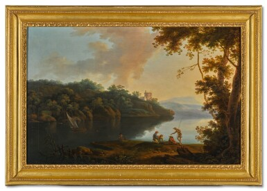 ATTRIBUTED TO ROBERT FREEBAIRN, A.O.W.S. | A PAIR OF ITALIANATE LANDSCAPES