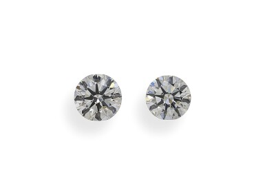 A Pair of 0.50 Carat Round Diamonds, J Color, VVS1 and VS1 Clarity