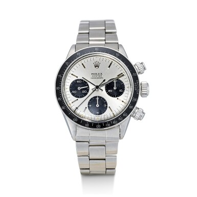 View 1. Thumbnail of Lot 163. ROLEX | COSMOGRAPH DAYTONA, REFERENCE 6263, A STAINLESS STEEL CHRONOGRAPH WRISTWATCH WITH SIGMA DIAL AND BRACELET, CIRCA 1972.