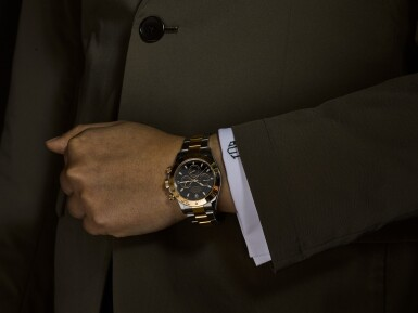 View 4. Thumbnail of Lot 8. ROLEX |  COSMOGRAPH DAYTONA, REFERENCE 116523, A YELLOW GOLD AND STAINLESS STEEL CHRONOGRAPH WRISTWATCH WITH BRACELET, CIRCA 2012.