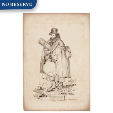 View 1. Thumbnail of Lot 51. Thomas Sopwith   Costume of the Glaciers [portrait of William Buckland], etching, [1830s].