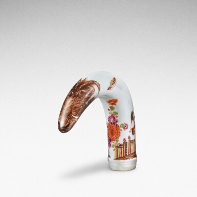 View 1. Thumbnail of Lot 88. A Meissen horn-shaped cane handle, Circa 1735.