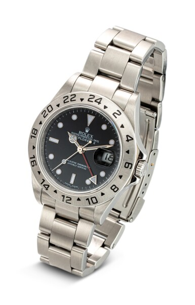 View 2. Thumbnail of Lot 604. ROLEX   EXPLORER II, REFERENCE 16570,  A STAINLESS STEEL WRISTWATCH WITH DATE, 24 HOURS INDICATION AND BRACELET, CIRCA 2008.
