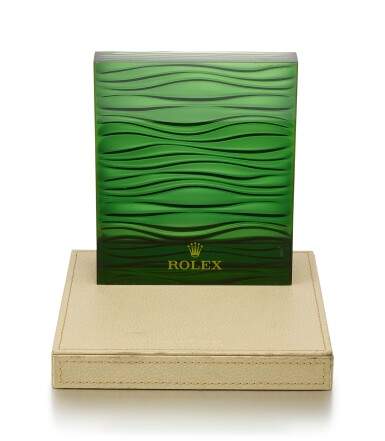 View 1. Thumbnail of Lot 8135. ROLEX | A RETAILER'S WINDOW DISPLAY STAND, CIRCA 1980.