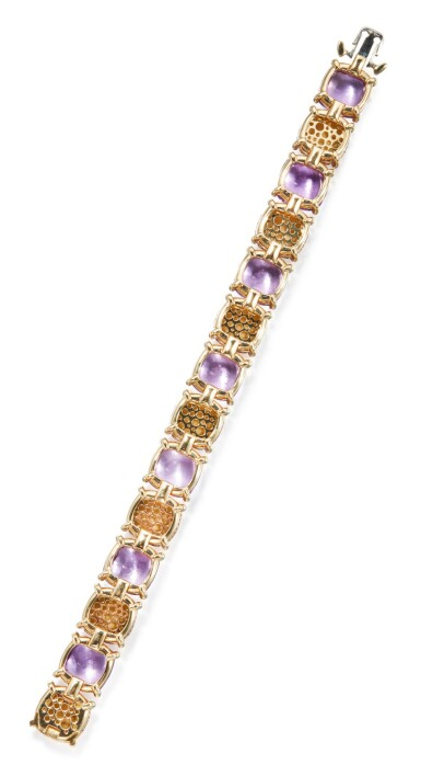 GOLD AND AMETHYST 'PALOMA'S SUGAR STACKS' BRACELET, PALOMA PICASSO FOR TIFFANY & CO.