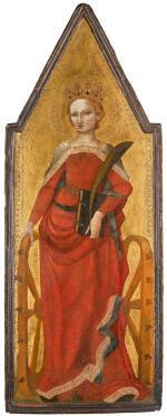 SCHOOL OF PISTOIA, CIRCA 1350 | Saint Catherine of Alexandria