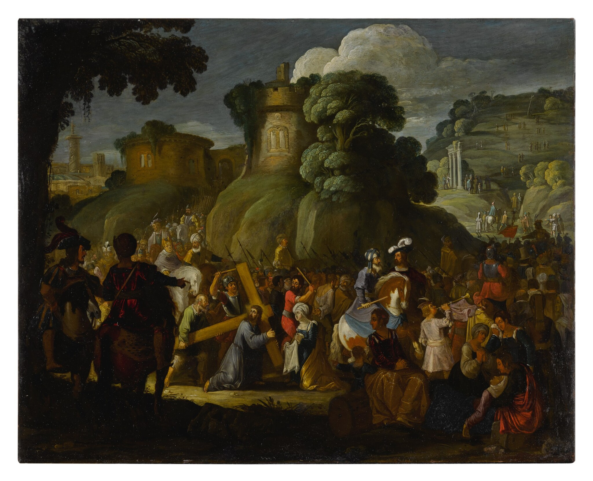 View full screen - View 1 of Lot 593. Christ on the road to Calvary.