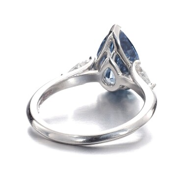 View 3. Thumbnail of Lot 157.  Graff | Fine fancy deep blue diamond ring | 格拉夫 | 深彩藍色鑽石戒指.