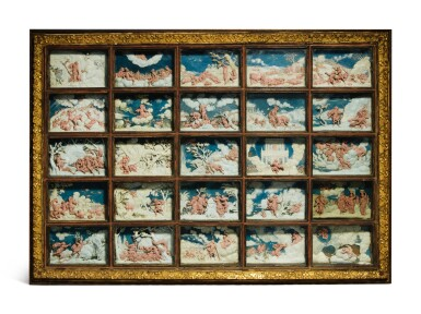 View 2. Thumbnail of Lot 802. pair of framed sets of reliefs with Ovid's Metamorphoses.