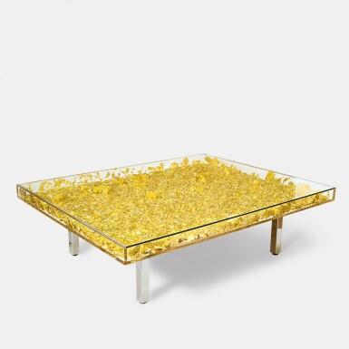 View 2. Thumbnail of Lot 622. Yves Klein 伊夫・克萊因 | Table MONOGOLD™ 黃金桌.