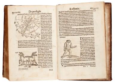 View 3. Thumbnail of Lot 168. Lycosthenes, Prodigiorum ac ostentorum chronicon, Basel, 1557, later calf.