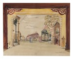 OLIVER SMITH | SET DESIGNS FOR SARATOGA (BALLET): A PAIR OF WORKS