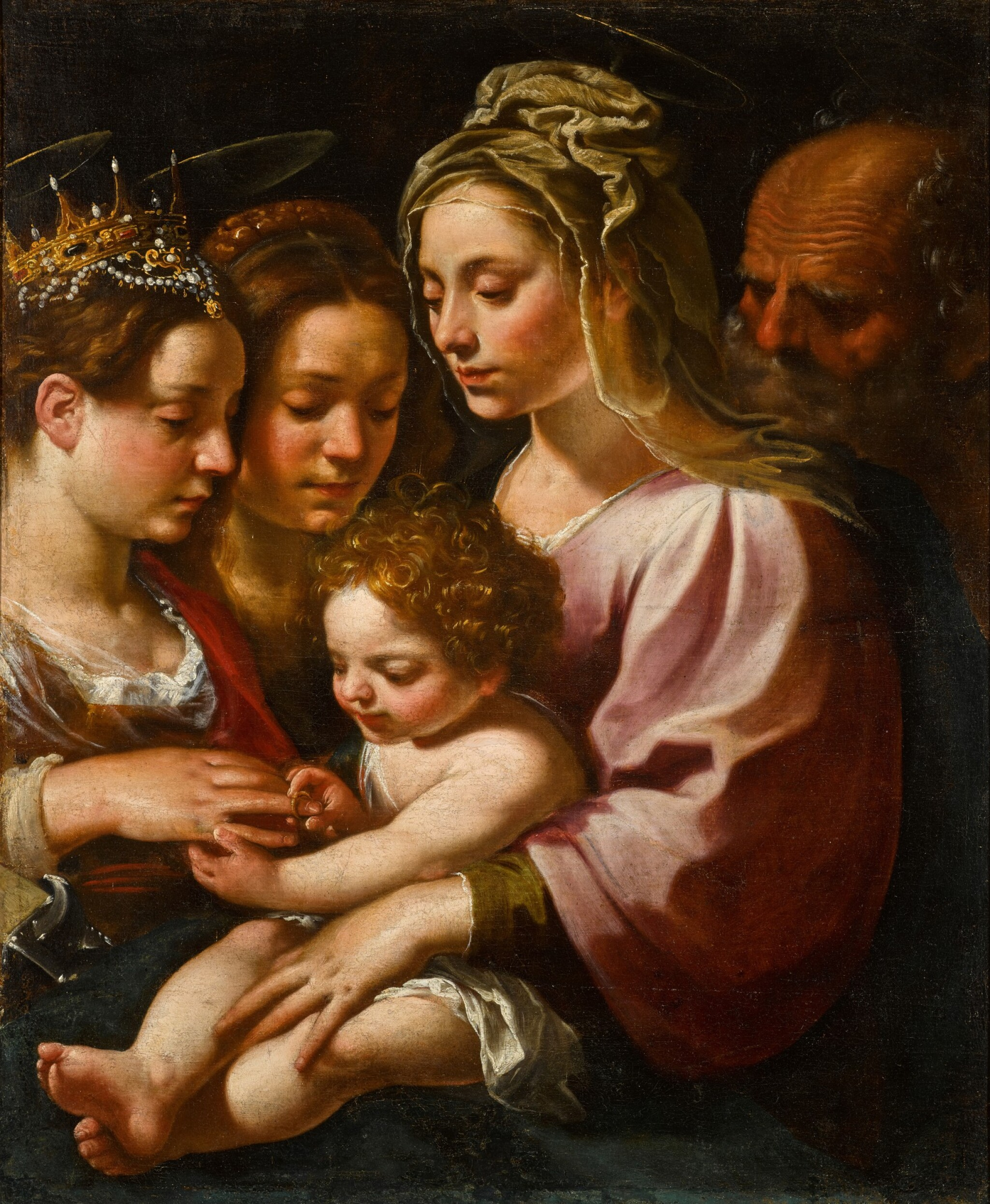 View 1 of Lot 118. The Mystic Marriage of Saint Catherine.