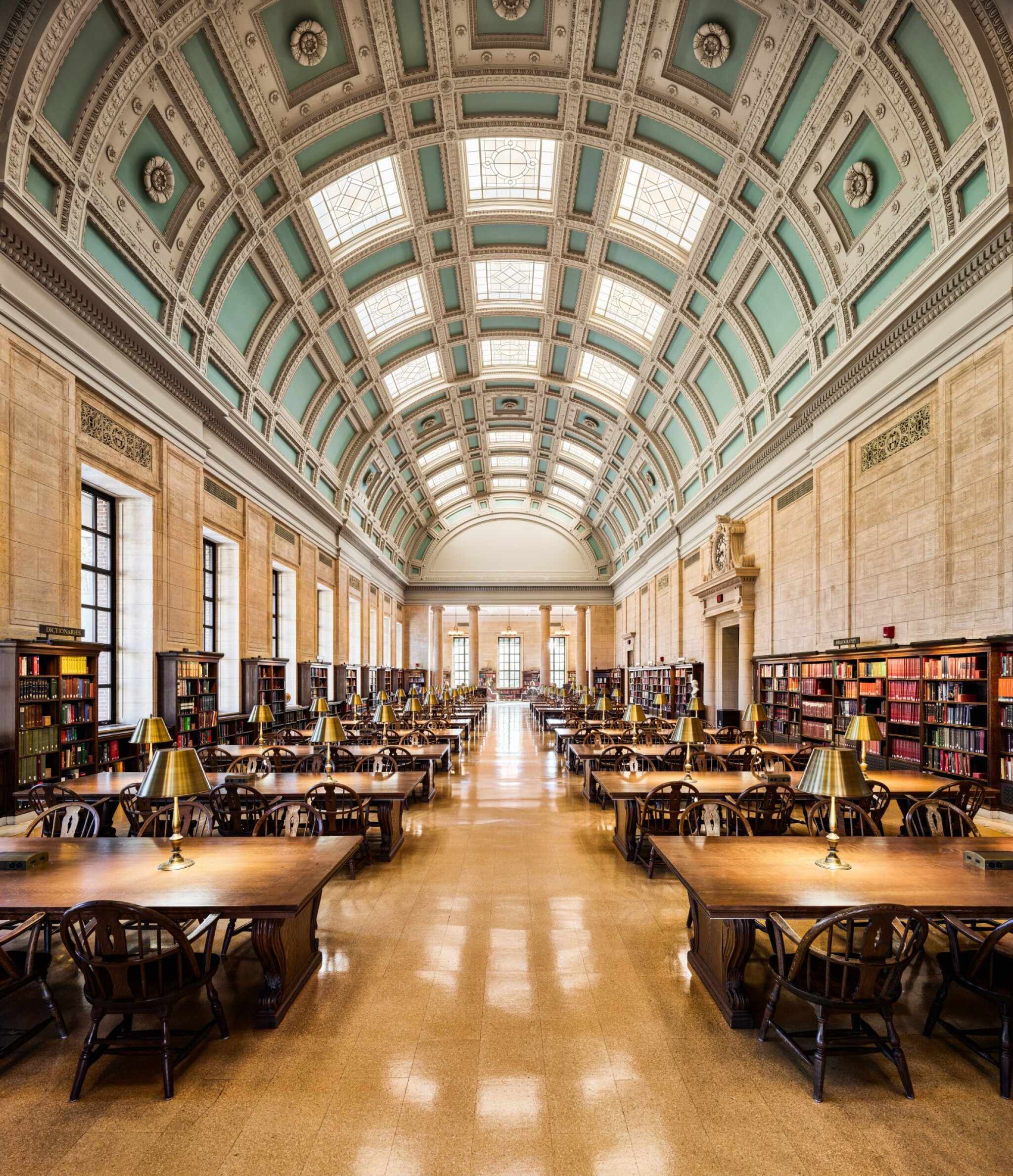 View full screen - View 1 of Lot 164. Loker Reading Room – Widener Library, Harvard University, Cambridge.