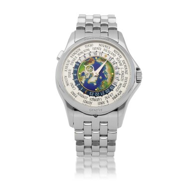 View 1. Thumbnail of Lot 342. WORLD TIME, REF 5131P PLATINUM WORLD TIME WRISTWATCH WITH BRACELET CIRCA 2018.