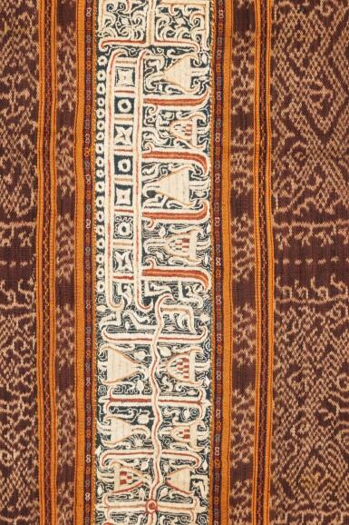 View 3. Thumbnail of Lot 34. Jupe de femme tapis, Lampung, Sumatra, Indonésie, fin du 19e siècle   Woman's wrapper tapis, Lampung, Sumatra, Indonesia, late 1880s.