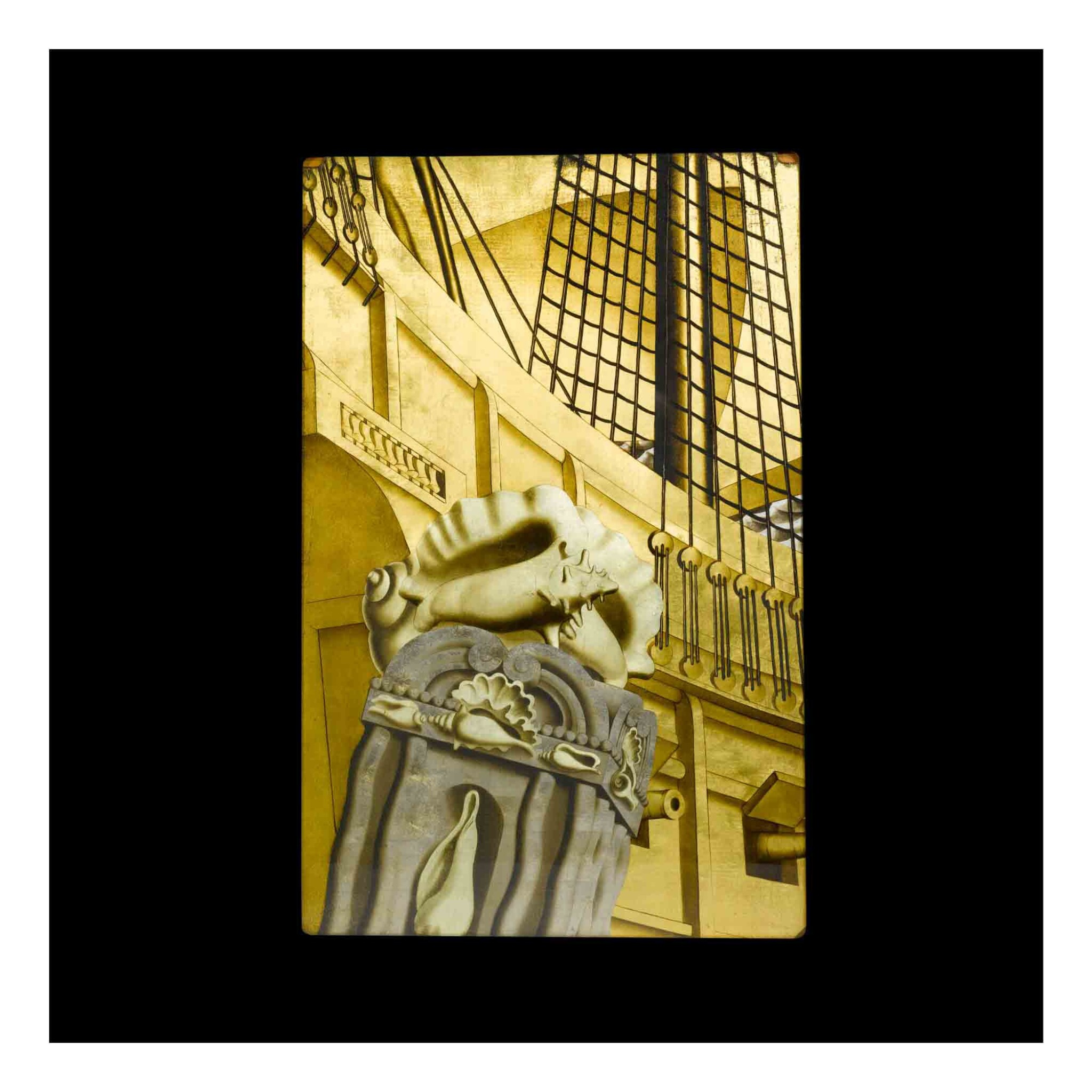 """View 1 of Lot 347. Panel from """"The Birth of Aphrodite"""" Mural from the Grand Salon of the S. S. Normandie."""
