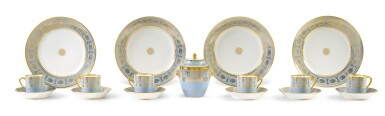 View 6. Thumbnail of Lot 82. A SÈVRES FOND AGATE COMPOSITE PART DESSERT SERVICE, VARIOUS DATES, PREDOMINANTLY 1833-1859.