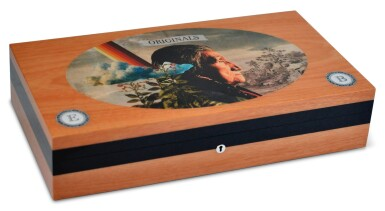 A French 'North-American' Cigar Humidor, Elie Blue Early 21st Century