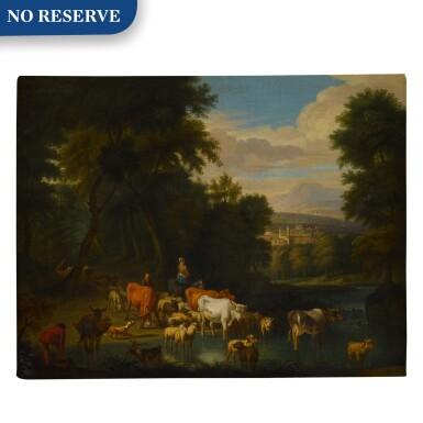View 1. Thumbnail of Lot 59. Pastoral landscape.