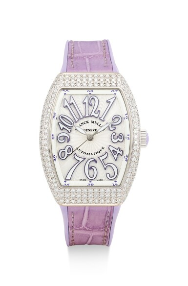 FRANCK MULLER | VANGUARD LADY, REFERENCE V32 SC AT FO D, A WHITE GOLD AND DIAMOND-SET WRISTWATCH, CIRCA 2016