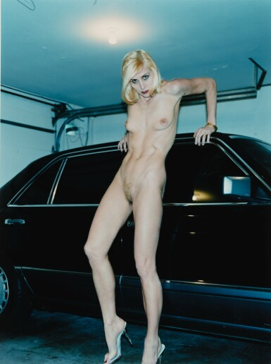 HELMUT NEWTON | EVIE AND HER MERCEDES, BEVERLY HILLS, 1996