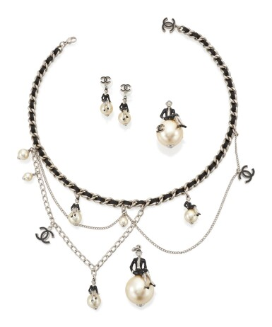 View 1. Thumbnail of Lot 20. 'COCO ON THE MOON' DEMI-PARURE , CHANEL.