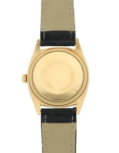 View 6. Thumbnail of Lot 99. ROLEX | REFERENCE 1013 OYSTER PERPETUAL A YELLOW GOLD AUTOMATIC WRISTWATCH, CIRCA 1966.