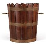 A BRASS-BOUND MAHOGANY BUCKET, LATE 19TH/20TH CENTURY