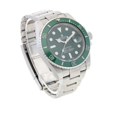 View 3. Thumbnail of Lot 406. 'Hulk' Submariner, Ref. 116610LV Stainless steel wristwatch with date and bracelet Circa 2010 | 勞力士 116610LV型號「'Hulk' Submariner」精鋼鍊帶腕錶備日期顯示,年份約2010.
