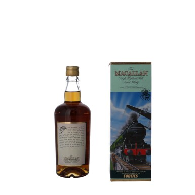 """View 2. Thumbnail of Lot 54. The Macallan Travel Decades Series """"Forties"""" 40.0 abv NV (1 BT50)."""