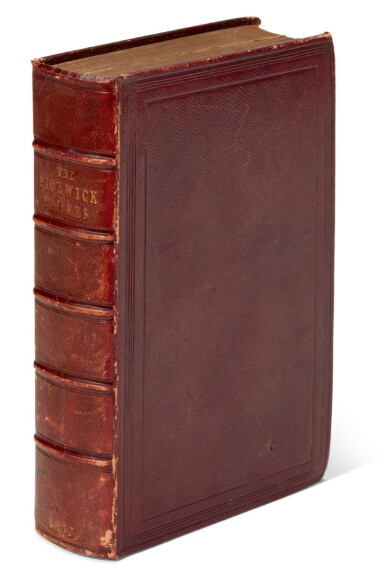 Dickens, The Posthumous Papers of the Pickwick Club, 1837, first edition in book form, publisher's deluxe binding