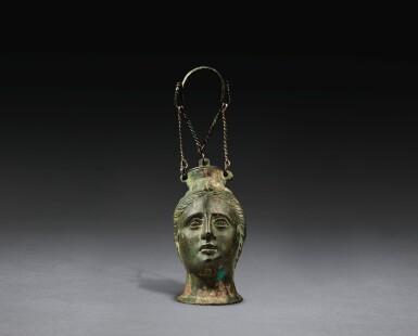 AN ETRUSCAN BRONZE BALSAMARIUM, CIRCA LATE 4TH/3RD CENTURY B.C.