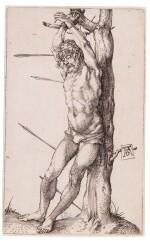 Saint Sebastian Bound to the Tree (B. 55; M., Holl. 62)