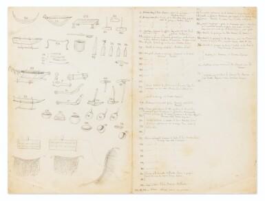 View 2. Thumbnail of Lot 50. RADIGUET. Dessins originaux et manuscrits autographes [vers 1860 ?].