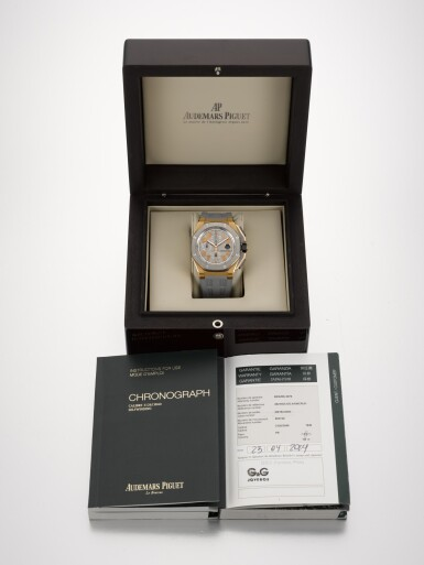 View 4. Thumbnail of Lot 325. AUDEMARS PIGUET | ROYAL OAK OFFSHORE LEBRON JAMES, REFERENCE 26210OI.00.A109CR.01, LIMITED EDITION PINK GOLD AND TITANIUM CHRONOGRAPH WRISTWATCH WITH DATE, NUMBER 483/600 CIRCA 2013.