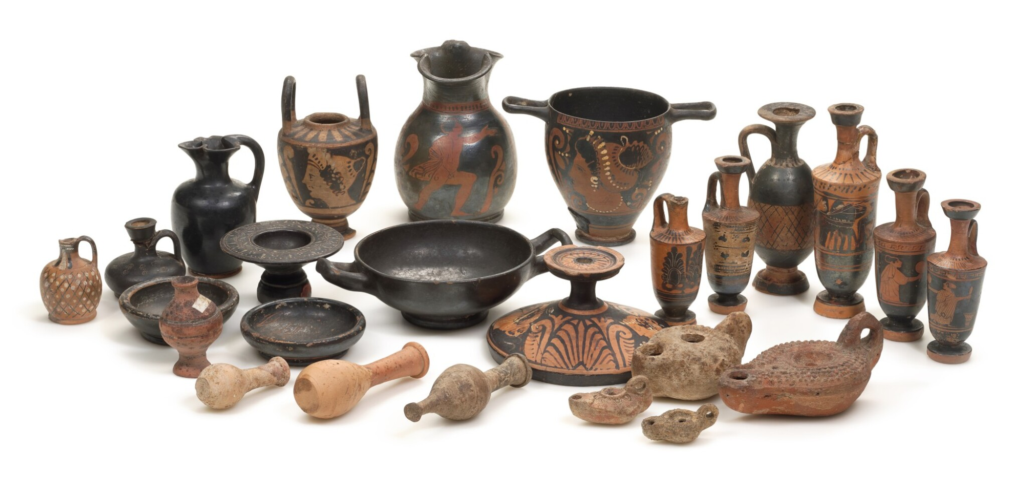 View full screen - View 1 of Lot 2.  A GROUP OF GREEK POTTERY VESSELS, 5TH/3RD CENTURY B.C..