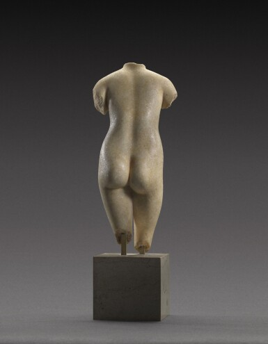 View 4. Thumbnail of Lot 39. A Hellenistic Marble Torso of the Capitoline Aphrodite, circa 2nd/1st Century B.C..