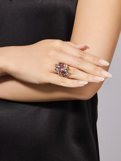 View 4. Thumbnail of Lot 1645.  BULGARI | GEM SET AND DIAMOND RING | 寶格麗 | 寶石 配 鑽石 戒指.